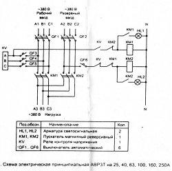 АВР – автоматический ввод резерва (схема)