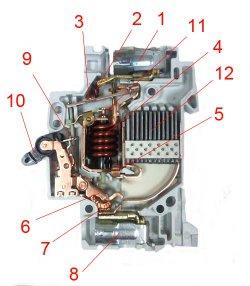 Принцип действия автоматического выключателя ABB