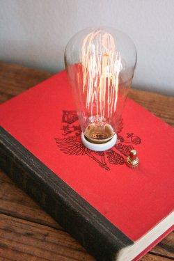 Книжная лампа. Дизайнерское решение с винтажной лампой накаливания