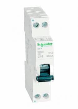 Новый однополюсный однофазный экономичный компактный (18мм) дифференциальный автомат Acti 9 iDif K