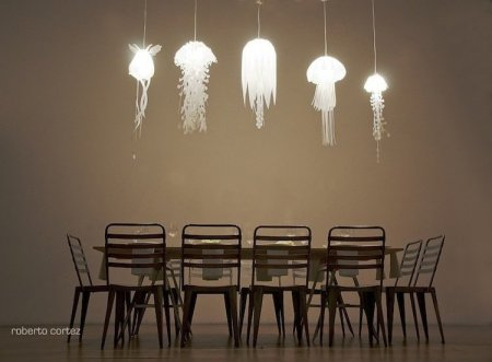 Креативные лампы в виде медузы