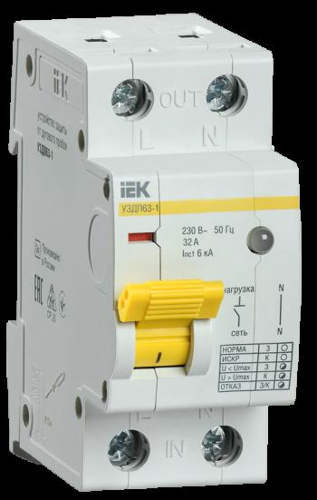 Устройство защиты от дугового пробоя УЗДП63-1 фирмы IEK®