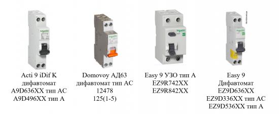 Электронные и электромеханические диффавтоматы и УЗО